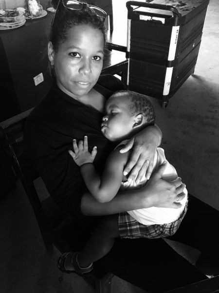 Cuban mother and child