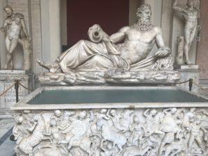 Classical sculptures in Vatican Museum