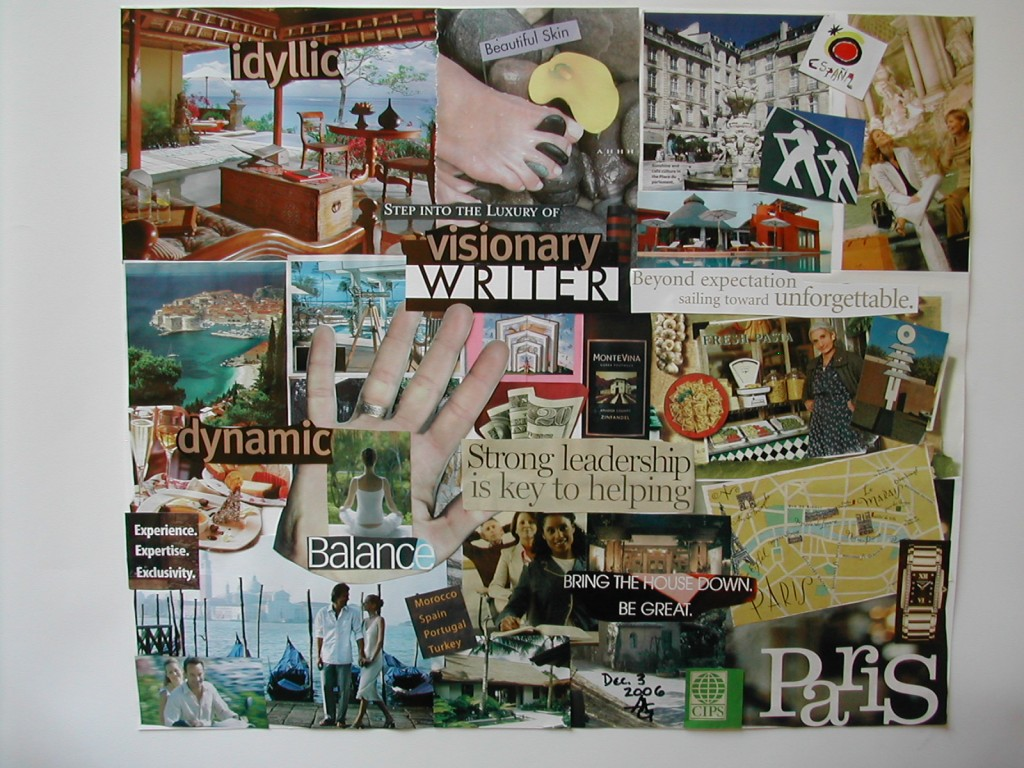 vision boarding with Aysha Griffin