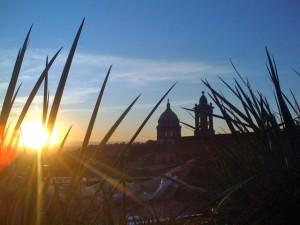 San Miguel de Allende sunset from La Azolea bar in Centro.