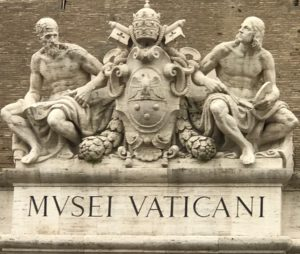 Vatican Museum entry sculpture