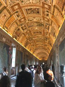 Vatican gold ceiling, gallery of candelabras