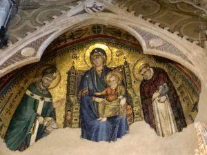 gold mosaic, Rome